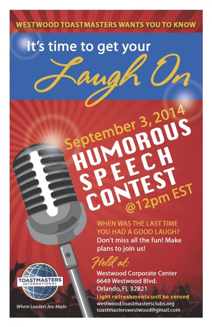 Toastmasters Speech Contest Flyer