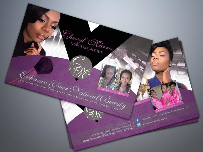 Cheryl Marrie - Make-up Artist Postcard